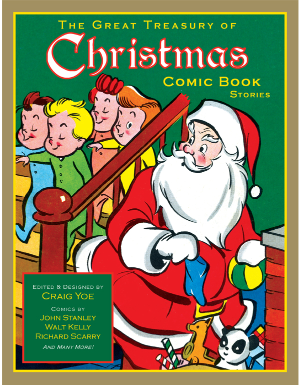 Cover of THE GREAT TREASURY of CHRISTMAS COMIC BOOK STORIES (hardback)