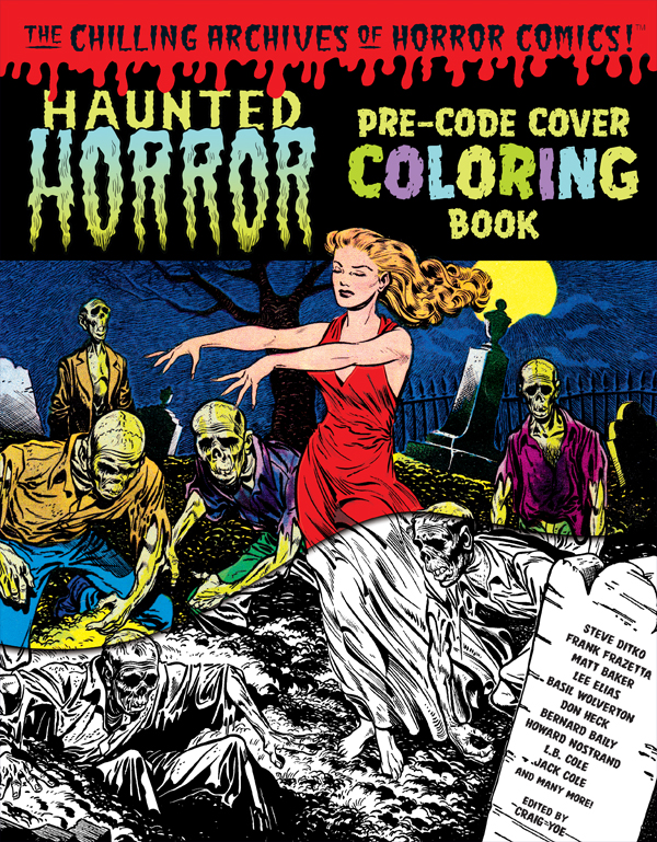 Cover of HAUNTED HORROR: Pre-Code Cover Coloring Book