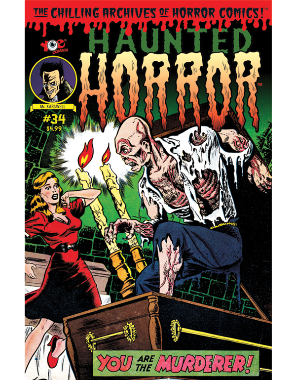 Cover of HAUNTED HORROR #34 comic book